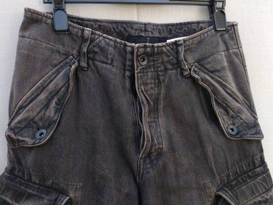 Julius Gas Mask Cargo Pants in Bown Denim AW09 Size 1 Size US 29 - 2