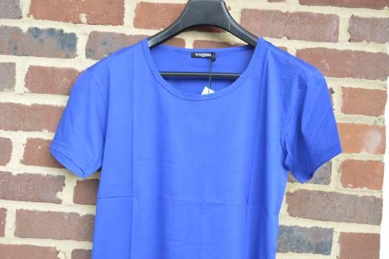 Balmain Blue Distressed T-shirt Size US M / EU 48-50 / 2 - 1
