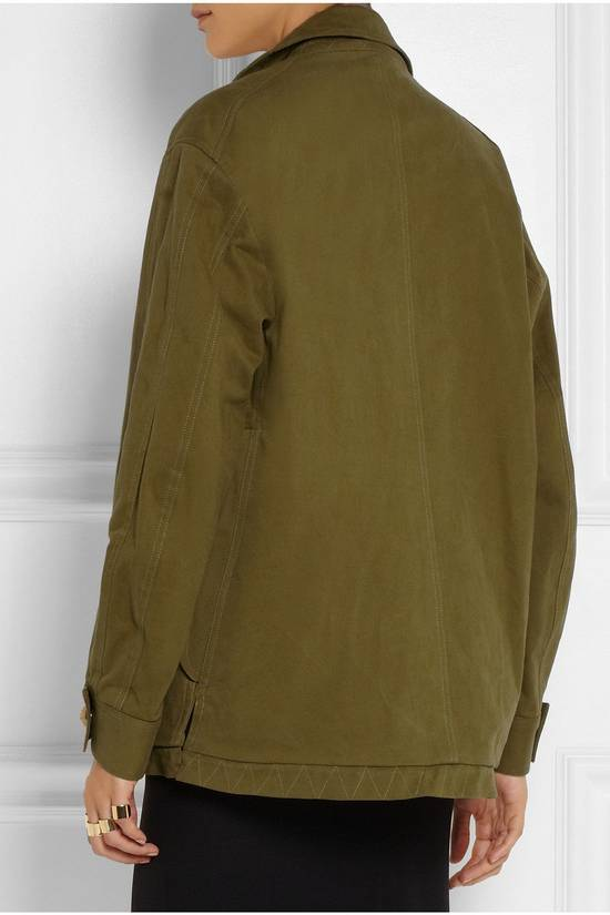 Balmain BALMAIN Pre14 army green stretch military zip up oversized jacket FR40 US8 UK12 Size US M / EU 48-50 / 2 - 5