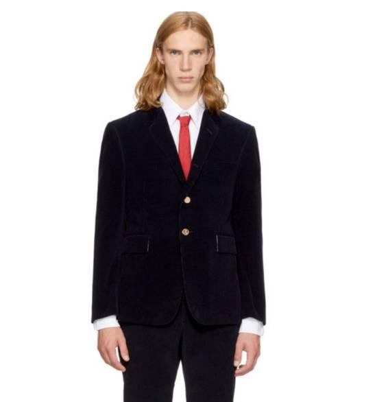 Thom Browne Navy Corduroy Blazer Size 36S