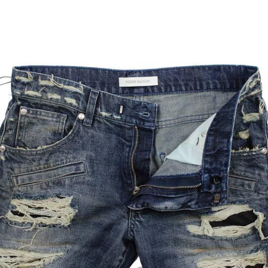 Balmain Pierre Balmain Distressed Moto Biker Jeans Size 32 Made in Italy Size US 32 / EU 48 - 4