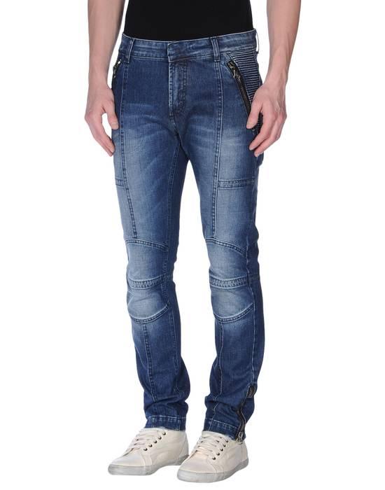 Balmain Coated Blue Moto jeans Size US 29