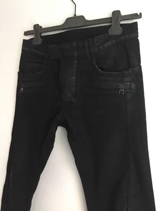 Balmain Distress Waxed Jeans Size US 28 / EU 44 - 5