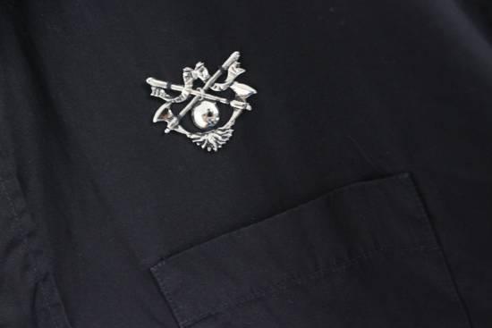 Balmain SS11 Decarnin Black Metal Badge Pin Poplin Shirt Size US M / EU 48-50 / 2 - 4