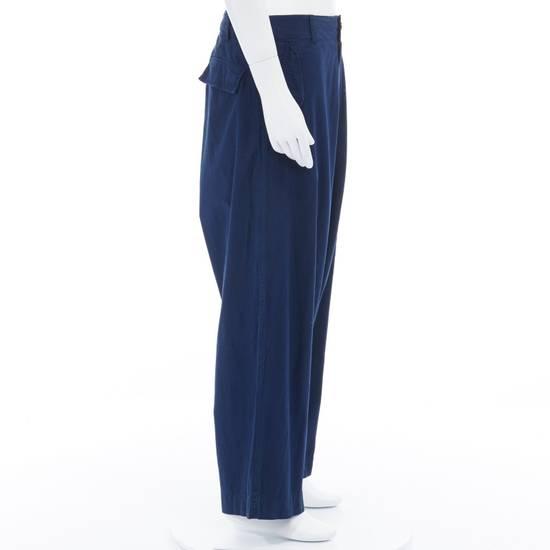"""Yohji Yamamoto YOHJI YAMAMOTO blue cotton dropped crotch exteme wide leg cargo pants JP3 33"""" L Size US 33 - 2"""