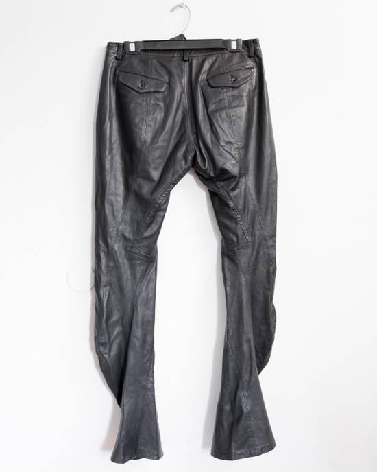 Julius FW08 Presentation Sample Leather Twist Seam Pants Size US 32 / EU 48 - 1