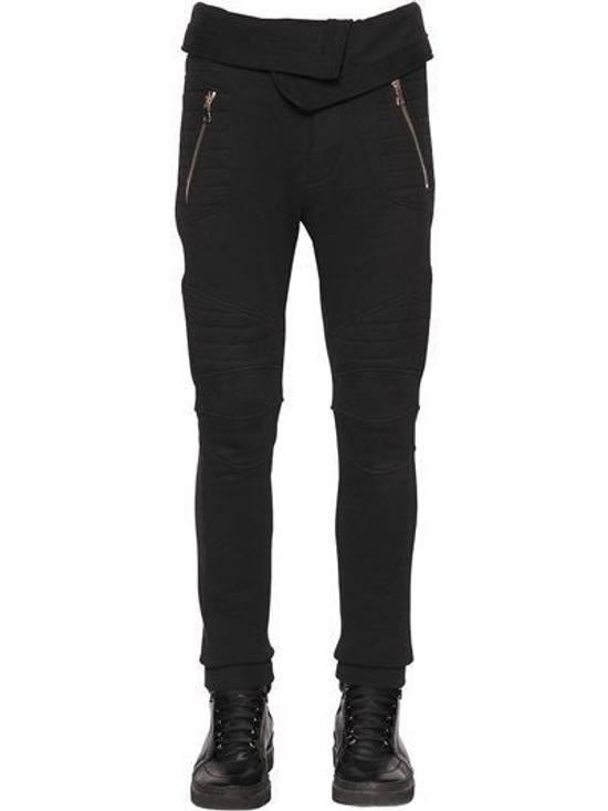 Balmain Balmain Cotton Jersey Biker Black Authentic $1040 Pants Size XL New Size US 36 / EU 52