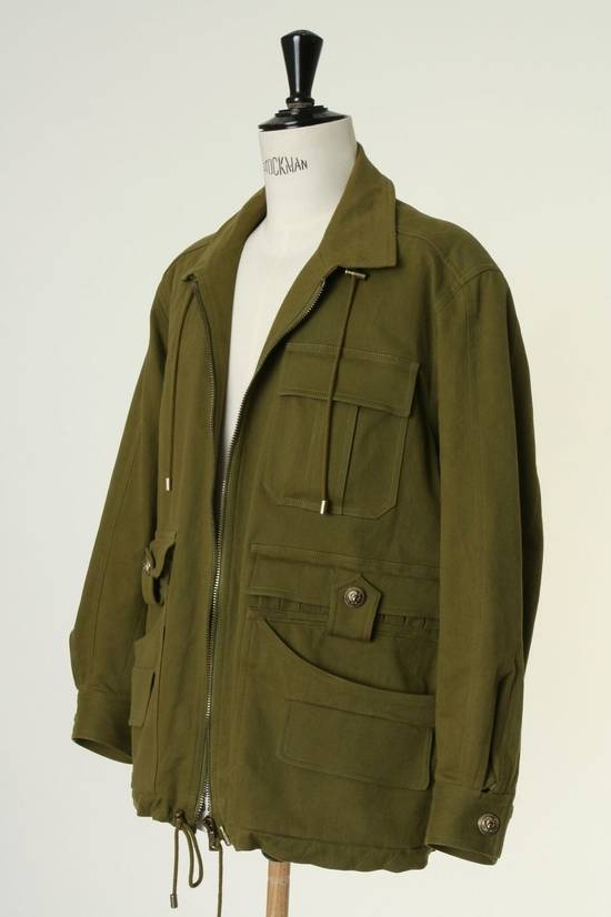 Balmain BALMAIN Pre14 army green stretch military zip up oversized jacket FR40 US8 UK12 Size US M / EU 48-50 / 2 - 7