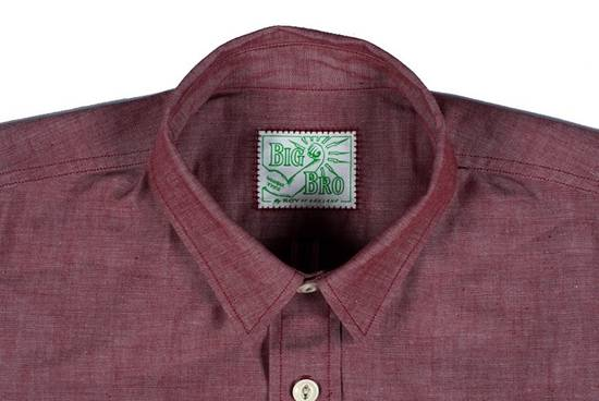 "Self Edge The Roy ""Big Bro"" Red Chambray Short Sleeve Shirt Size US XXL / EU 58 / 5 - 1"