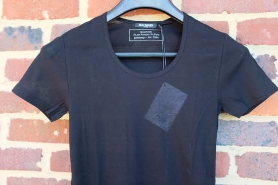 Balmain Black Ribbed Knit T-shirt Size US XS / EU 42 / 0 - 4