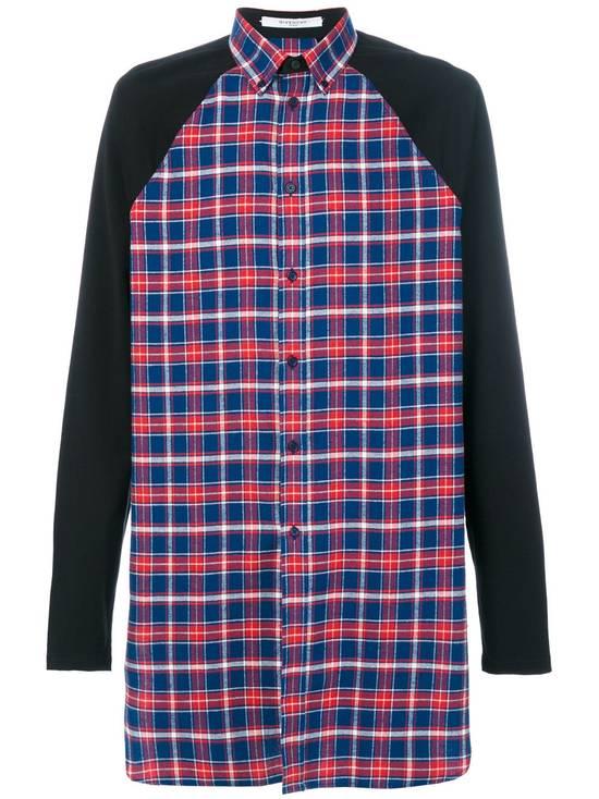 Givenchy Contrast Arms Plaid Shirt Size US XL / EU 56 / 4 - 1
