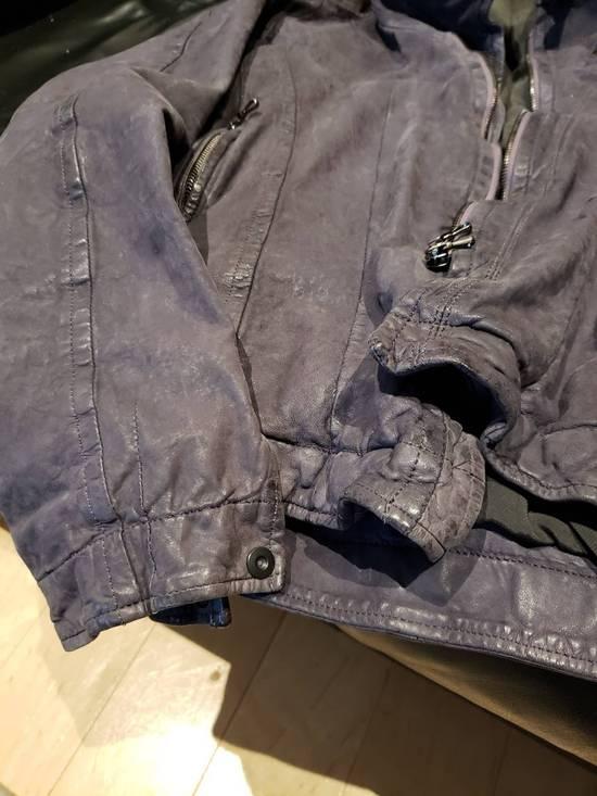 Julius AW12 Moldable Jut Neck Leather Jacket NEW Size US L / EU 52-54 / 3 - 8