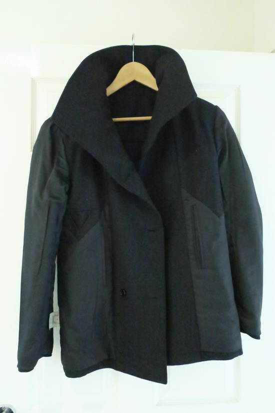 Givenchy BLACK WOOL DOUBLE BREASTED PEA COAT Size US M / EU 48-50 / 2 - 7