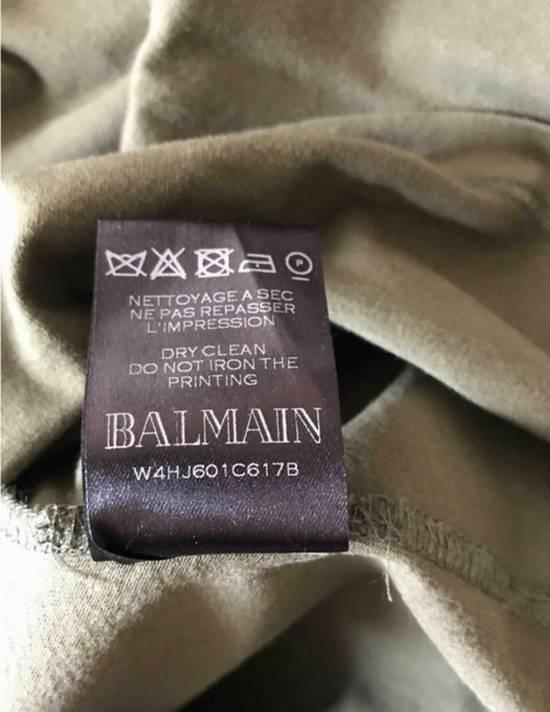 Balmain T-shirt Green Military Size US XL / EU 56 / 4 - 2