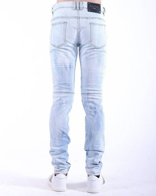 Balmain Balmain Light Blue Biker Skinny Authentic $950 Jeans Size 29 Size US 29 - 2