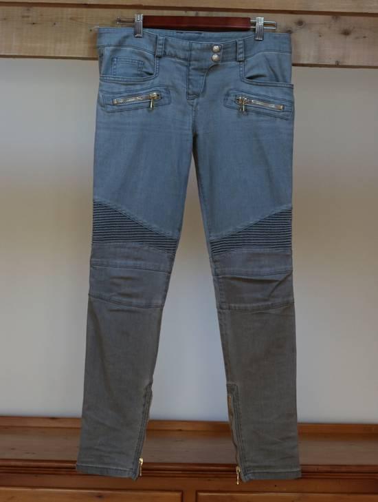 Balmain Stretch Denim Cotton Biker Jeans Size US 26 / EU 42