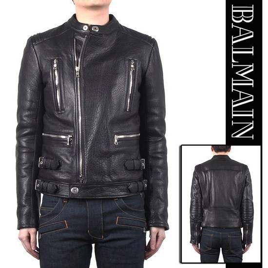 Balmain 2014FW Lambskin Biker Jacket Size US M / EU 48-50 / 2 - 4