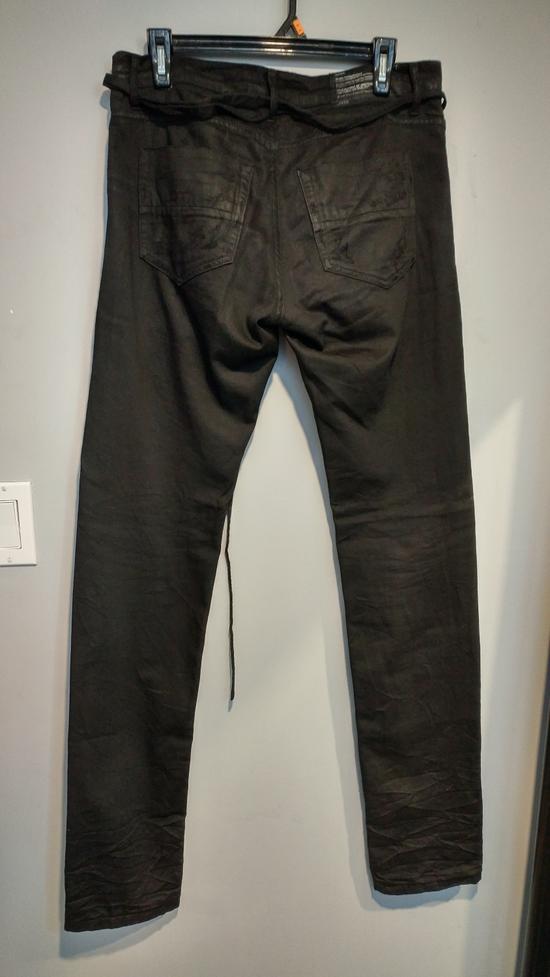 Julius SS11 Paneled Waxed Slim Jeans (sz 2, fits 31-32) Size US 32 / EU 48 - 1