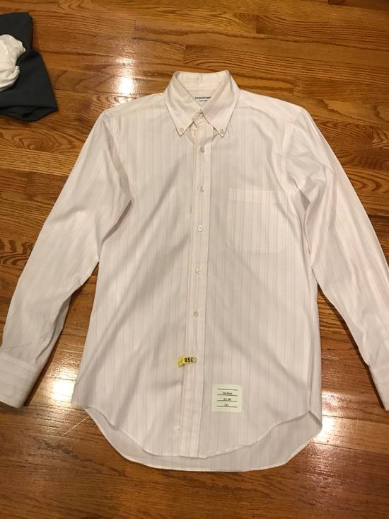 Thom Browne Pink Striped Dress Shirt Size US S / EU 44-46 / 1