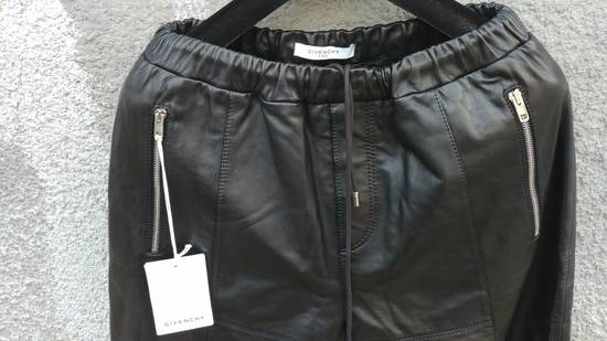 Givenchy $2475 Givenchy Lambskin Rottweiler Leather Trousers Trackpants size 50 (M / L) Size US 34 / EU 50 - 6