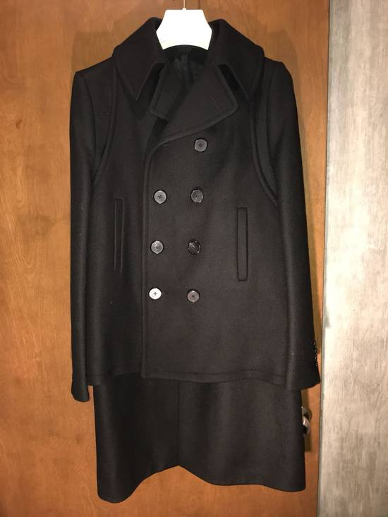 Givenchy FW12 Two Piece Black Wool Peacoat sz 48 double layer coat Riccardo Tisci Size US M / EU 48-50 / 2 - 4