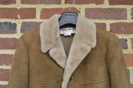 Saint Laurent Paris Hedi's Personal Suede and Shearling Coat Size US S / EU 44-46 / 1 - 2
