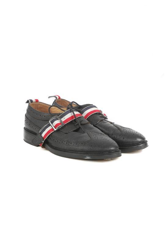Thom Browne Thom Browne Black Leather Monk Strap Wingtip Shoes Size US 10 / EU 43