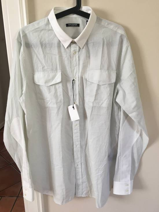 Balmain Balmain grey striped shirt Size US L / EU 52-54 / 3