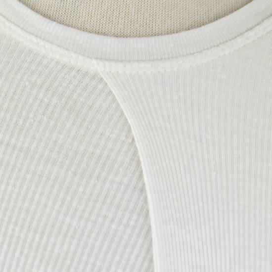 Julius 7 White Silk Blend Long Sleeve Long Ribbed Crewneck T-Shirt 3/M Size US M / EU 48-50 / 2 - 4