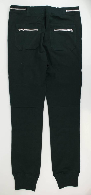 Balmain Men's Green Cotton Leggings Biker Pants Size XL Size US 38 / EU 54 - 2