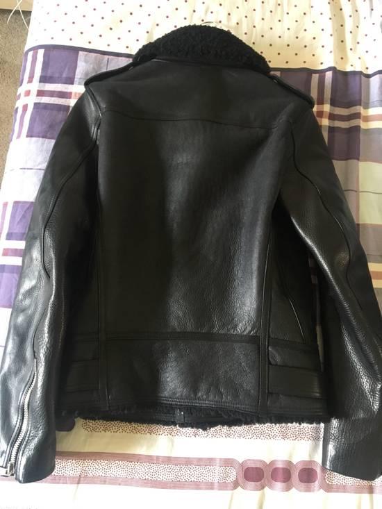 Balmain Black Leather & Shearling Biker Jacket Size US S / EU 44-46 / 1 - 1