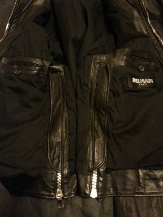 Balmain Safety Pin Leather Biker Jacke Size US M / EU 48-50 / 2 - 15