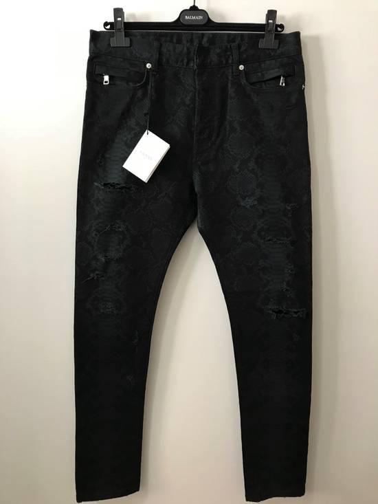 Balmain LAST DROP! Size 32 - Distressed Snake Print Rockstar Jeans - FW17 - RARE Size US 32 / EU 48 - 1