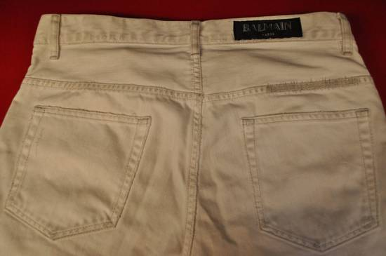 Balmain distressed white 16cm denim Size US 30 / EU 46 - 4