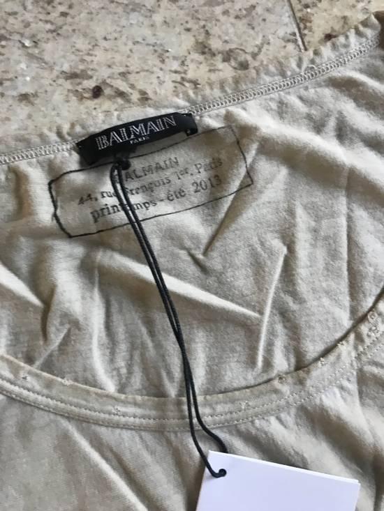 Balmain Distressed Khaki LS Tes Size US XL / EU 56 / 4 - 6