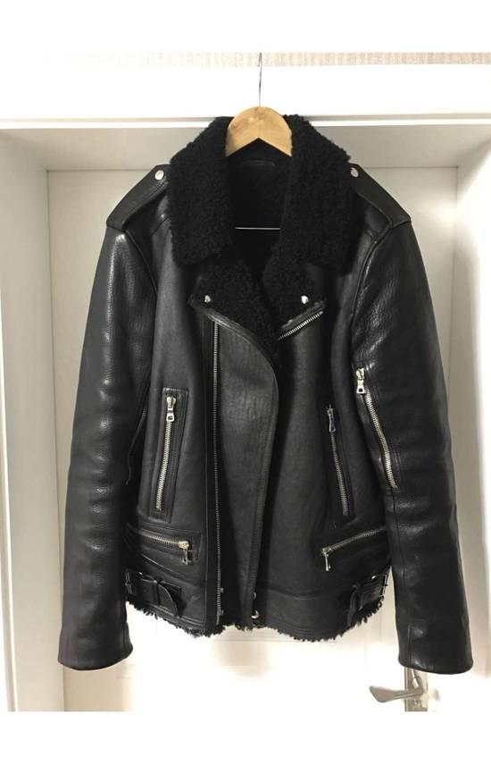 Balmain shearling leather biker jacket Size US M / EU 48-50 / 2 - 3
