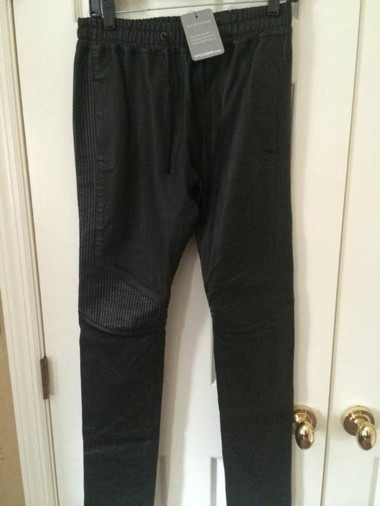 Balmain Leather Track pants Size US 30 / EU 46 - 1