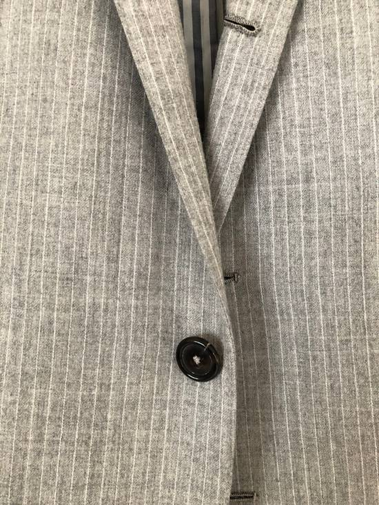 Thom Browne THOM BROWNE FLEECE SUIT IN LT. GRAY/WHITE PINSTRIPE (NEW & UNTAILORED) Size 40R - 4