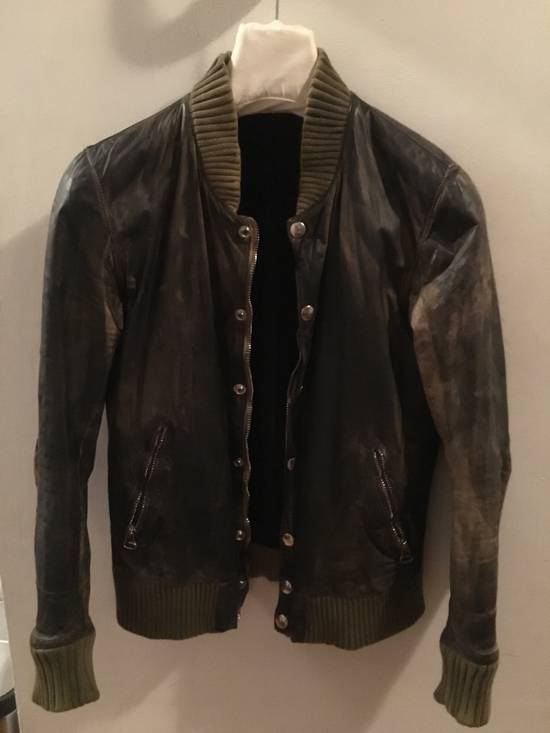 Balmain Decarnin Green Leather Teddy Boy Jacket Size US M / EU 48-50 / 2