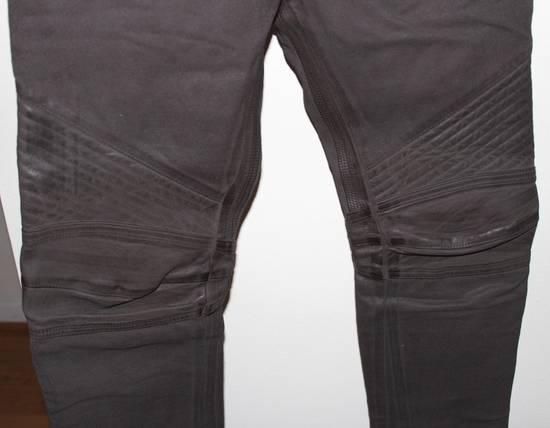Balmain Balmain Waxed Moto Biker Jeans Leather Trim Size 29 BNWT Dark Brown Denim $2,295 Size US 29 - 3
