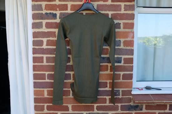 Balmain Khaki Ribbed Knit Long Sleeve T-shirt Size US S / EU 44-46 / 1 - 6