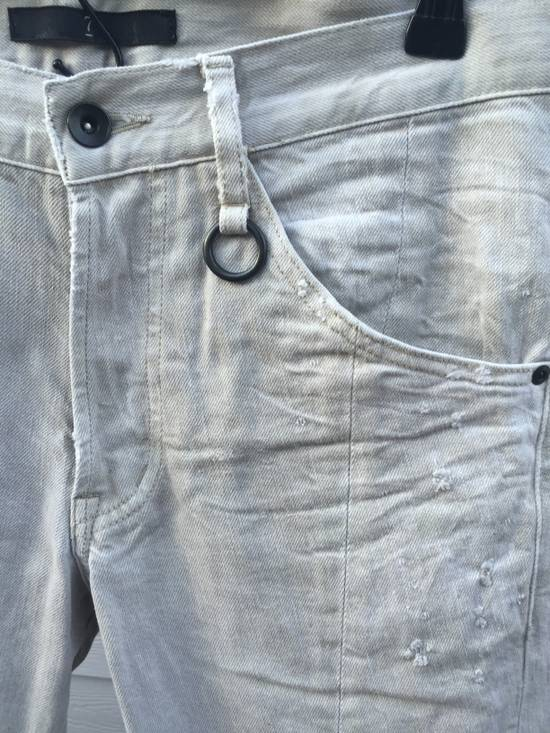 Julius SS09 Distressed J Cut Plaster Denim Size US 30 / EU 46 - 4