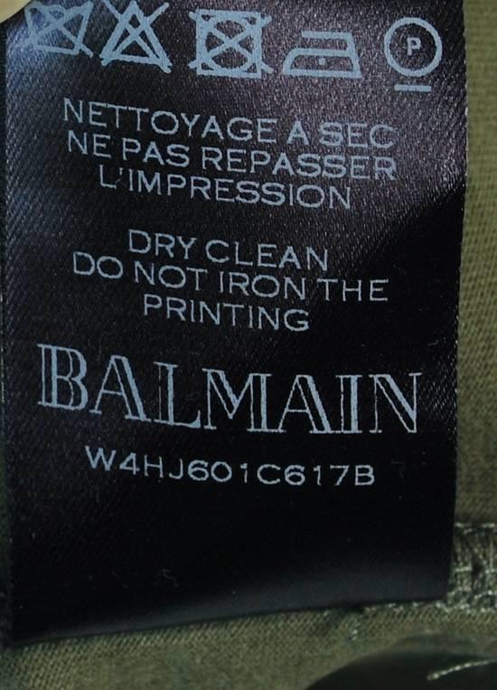 Balmain Original Balmain Distressed Elements Khaki Men T-Shirt in size L Size US L / EU 52-54 / 3 - 7