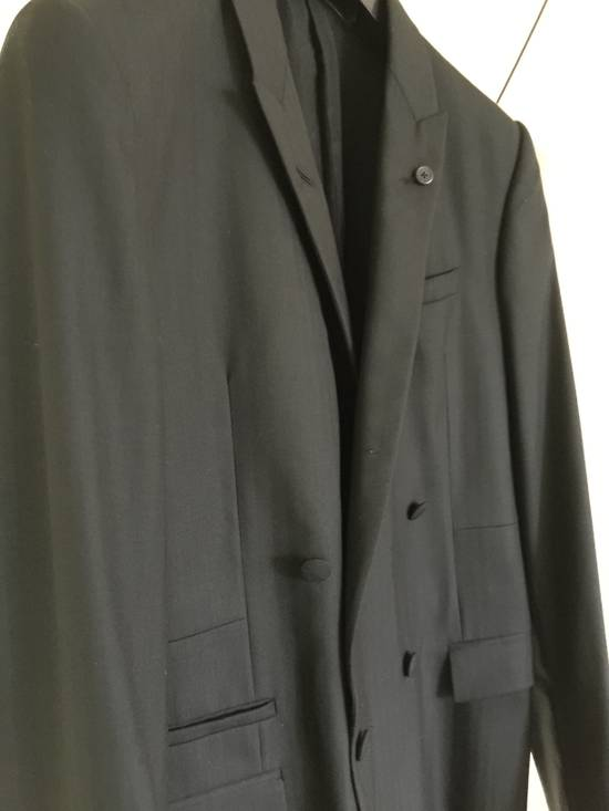 Givenchy Black Herringbone Wool Blazer Slim-Fit Full Suit Size 38R - 2