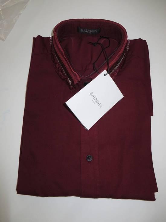 Balmain Embroidered plastron shirt Size US L / EU 52-54 / 3