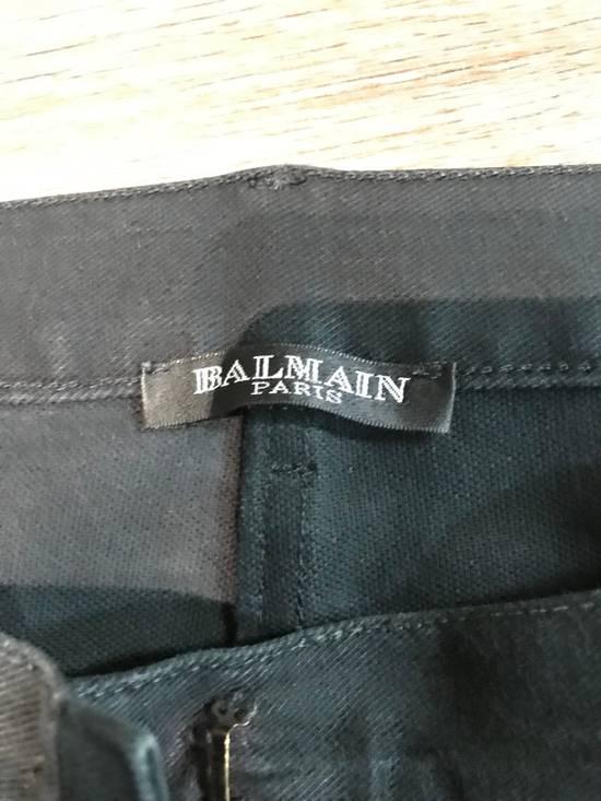 Balmain Rare Black Decarnin Zip Denim Size US 32 / EU 48 - 1