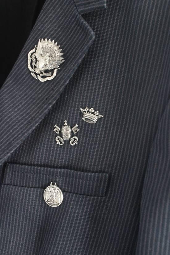 Balmain SS11 Campaign Decarnin Era Striped Pins Blazer Size 50R - 5