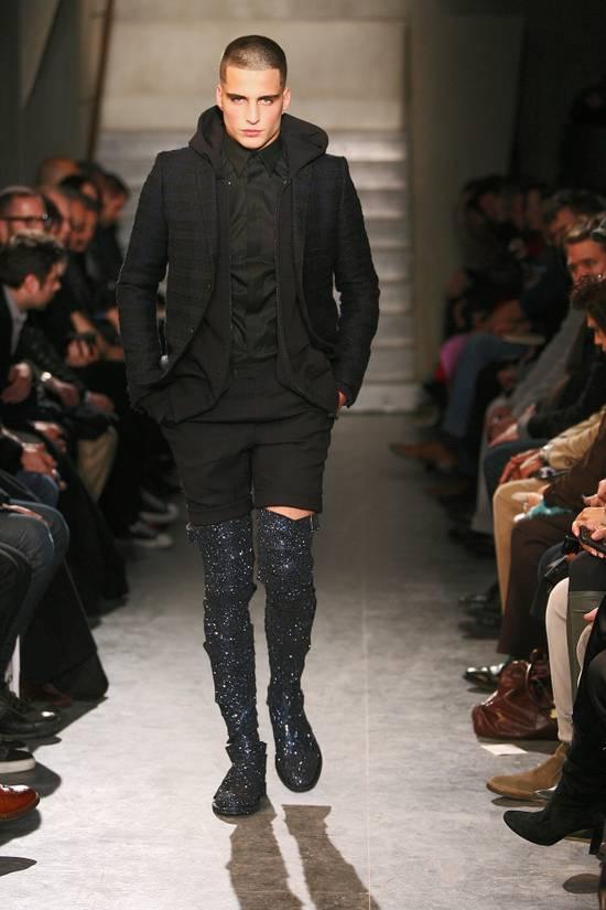 Givenchy FW09 Black Blue Wool Couture Blazer Sz 44 Size 34R