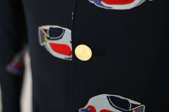 Thom Browne Navy jacket with fish embroideries Size 46R - 2
