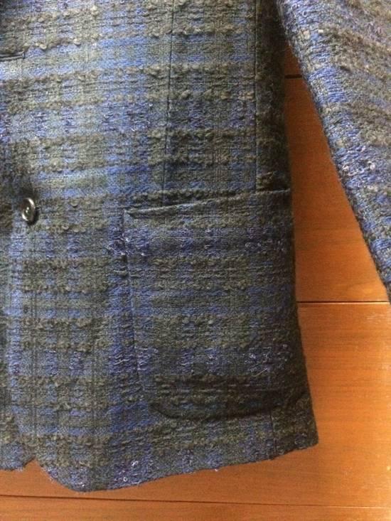 Givenchy FW09 Black Blue Wool Couture Blazer Sz 44 Size 34R - 6